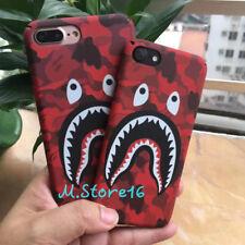 Ape Bape Mouth Shark Camouflage Camo Luminous Case iPhone X 5 SE 6 S 7 8 Plus