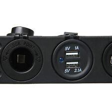 car mount 12V Cigarette Lighter Dual USB Charger Socket +Digital Voltmeter