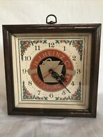 Vintage HJ Heinz Co. Wall Clock VG Cond Pittsburg Pickling and Preserving WORKS