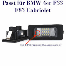 LED SMD Kennzeichenbeleuchtung für BMW 4er F33 F83 Cabriolet /5XC/