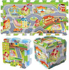 Trefl gro�Ÿ 8 teilige Pädagogische 5 in 1 Schaum Puzzle Kinder Stadt Farm Zoo