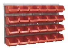 NEW 24 Sealey TPS130 Parts Storage Box/Bins + Panel For Garage/Workshop/Shed RED