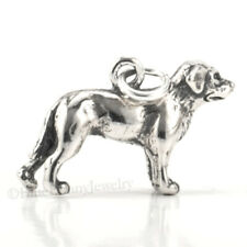 Labrador Retriever Dog Charm Pendant solid 925 Sterling Silver 3D Lab Dog Charm