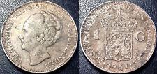 Pays-Bas - Wilhelmina - 1 gulden argent 1931 - KM#161.1