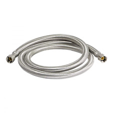 """Refregerator Stainless Braided Ice Maker Supply Line 1/4"""" Comp X 1/4"""" Comp X 72"""""""