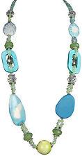 Modeschmuck-Halsketten aus Kristall mit Türkis-Hauptstein