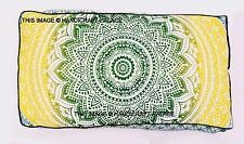 Indian Cotton Floor Pillow Mandala Ottoman Pouf Meditation Cushion Cover 44X22""