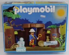 Playmobil 3017 Jungle Treasure Cave Ruins Gold Glow Skeleton NIB Retired 1998