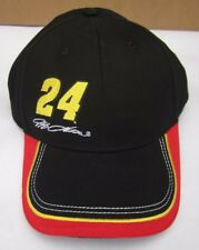 Jeff Gordon #24 Black Red & Yellow Valvoline Nascar Hat Adjustable Back Cap NEW