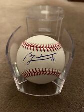 Ben Zobrist Autographed Baseball Chicago Cubs WITH CASE