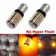 2pc Yellow 144  BA15S Car Light Bulbs 12V-24V 7440 LED Lamp Turn Signal 144SMD
