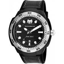 Technomarine TM-515006 Sun/Reef Men's Black Silicone/Leather 45mm
