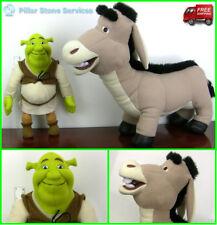 "Jumbo Shrek 17"" & Huge Donkey 21"" Stuffed Plush Dreamworks Hasbro - SHIPS FREE"