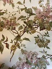 Vtg Richard E Thibaut Inc Wallpaper Coverings 1970's Floral Pattern