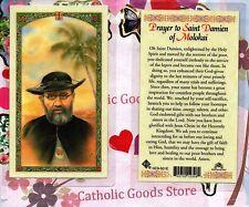 Saint Damien of Molokai - Prayer to St. Damien of Molokai - Laminated Holy Card