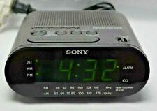 Sony Dream Machine FM/AM Digital Clock Radio Model ICF-C218 Black Tested Working