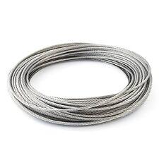 60m câble acier inox 5mm cordage torons: 7x19