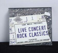 Live Concierto Rock Clásicos Various Artists Ft Joplin,Vaughan,Santana- 2001 CD