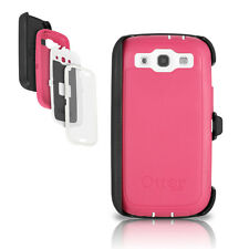 OtterBox Galaxy S3 Defender Case & Holster Pink White Cover w/ Clip OEM Original