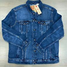 New Levi's Trucker Jean Jacket in the Hype Stretch Denim Men's Size Small & XL