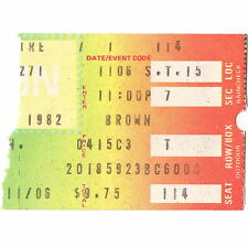 JAMES BROWN Concert Ticket Stub HIGHLAND HEIGHTS OH 11/6/82 FRONT ROW THEATRE
