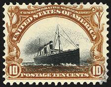 #299 10c Yellow Brown & Black 1901 ~Sinking Ship Error~ VF MNH Tiny Thin