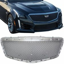 For Cadillac CTS 4dr 2014- 2016 Chrome Mesh Upper Replacement Grille CTS-V Style