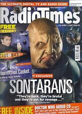 Radio Times Doctor Who April 2008 Sontarans plus free Doctor Who audio CD