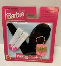 MATTEL BARBIE 1998 FASHION TOUCHES CLOTHES ACCESSORIES NIP Black Stockings