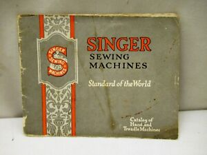 "Vintage Singer Sewing Machine Advertising Catalog Sample Card Booklet American """
