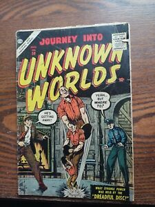 Journey Into Unknown Worlds #59 G-VG condition Bill Everett cover
