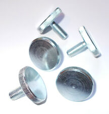 Pack of 5x M8 x 20 MM Galvanised & Zinc Plated Knurled Thumbscrews. 30mm OD