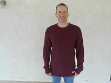 Men's Old Navy Burgundy Cable Knit Sweater, XL