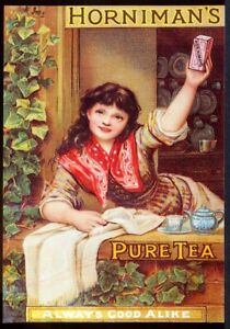 Modern Postcard: HORNIMAN's Pure Tea. Retro Advert. Opie 01BV05. Free UK Post