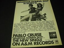 Pablo Cruise 1977 Promo Ad man and woman on motorcycle Whtcha Gonna Do mint cond