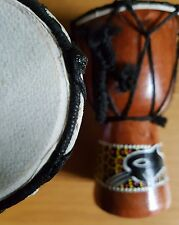 15 cm Fair Trade Hand Made Djembe Drum Individual Design Drum
