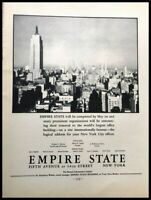 1931 Empire State Building NYC Vintage Advertisement Print Art Ad Poster LG82