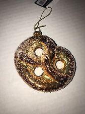 Christmas Robert Stanley Hanging Glass Ornament Pretzel With Salt