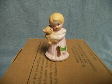 Vintage 1982 Enesco Growing up Girls- Blond Birthday Girls 1 Year Old Figurine