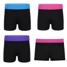 Girls Stretch Shorts Gymnastics Dance Leotard Ballet Sport Yoga Exercise Bottoms