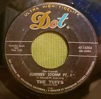 Key Bell and The Tuffs 45 Surfers' Stomp I & II Surf Garage Early Rock  Dot Rec.