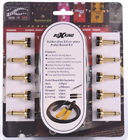 BoxKing Full Kit of No-solder Effects Patch Cables DIY Kit/Pedal Board Kit