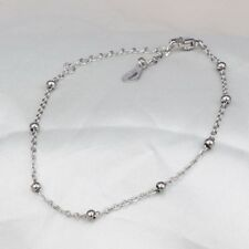 Woman Titanium Steel Beach Anklets Bead Foot Chain Gold Ankle Bracelet Jewelry