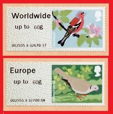 2011 Birds 2 ( II ) Post and Go Europe 60g & Worldwide 60g Sinlges