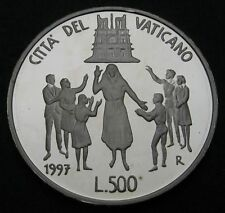 VATICAN 500 Lire 1997/XIX Proof - Silver - XII World Youth Conference