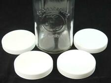 """4 - New 4"""" REPLACEMENT LIDS for Golden Harvest Square Canister Jars *FREE SHIP*"""