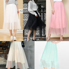Women Elegant Long Skirt Slim High Elastic Waist Dress Casual A  Maxi SkiSE
