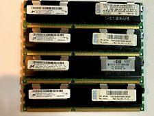 16GB (4x4GB) Micron PC3-10600R 2Rx4 1.5v ECC Registered Server Memory DDR3