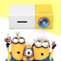 Mini 320*240 LED Projector YG300 EU Home Cinema 1080P AV HDMI For DVD Xbox PS4