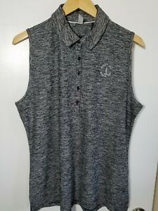 1 NWT UNDER ARMOUR WOMEN'S S/L POLO, SIZE: X-LARGE, COLOR: BLACK HEATHER (J184)